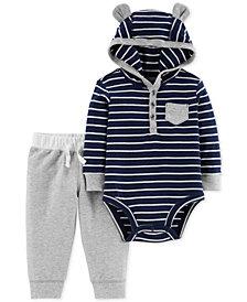 Carter's Baby Boys 2-Pc. Cotton Striped Bodysuit & Pants Set