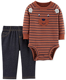 Carter's Baby Boys 2-Pc. Cotton Striped Bodysuit & Pants Set
