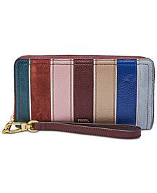 Fossil Logan Zip Around Patchwork Wallet