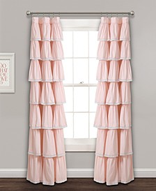 "Lace Ruffle 52"" x 84"" Window Curtain Panel"