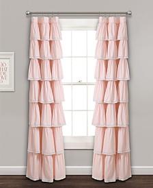 "Lace Ruffle 84""x52"" Window Curtain Panel"
