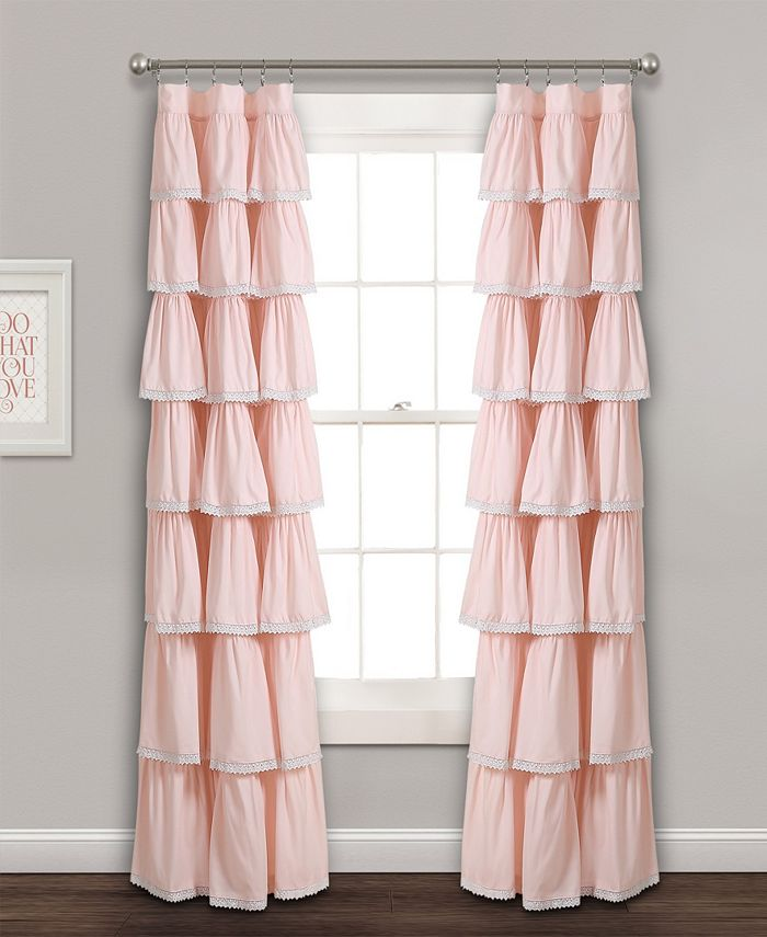 "Lush Décor - Lace Ruffle 52"" x 84"" Window Curtain Panel"