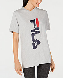 Fila Cotton Spliced-Logo T-Shirt