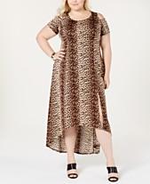 a234fc59f7c NY Collection Plus   Petite Plus Size Cold-Shoulder Fit   Flare Dress