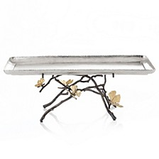 Butterfly Gingko Footed Centerpiece Tray