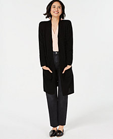 Charter Club Pure Cashmere Long Cardigan Sweater with Imitation Pearl Detail, Created for Macy's