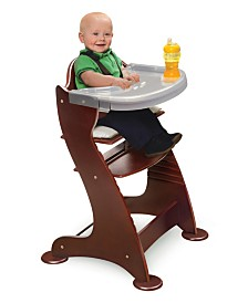 Badger Basket Unisex Embassy Adjustable Wood High Chair