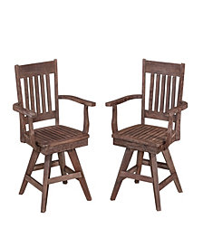 Home Styles Morocco Swivel Chair Pair