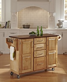 Home Styles Create-A-Cart Natural Finish with Oak Top