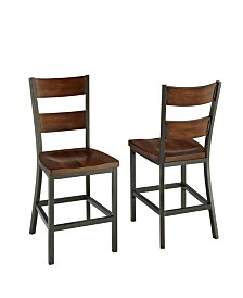 Home Styles Cabin Creek Dining Chair Pair