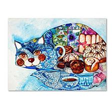 Oxana Ziaka 'Lunch Cat' Canvas Art Print Collection
