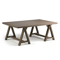 Deals on Ramsee Large Sawhorse Coffee Table II