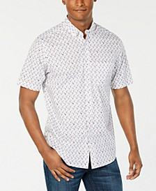Men's Flamingo Print Short Sleeve Shirt, Created for Macy's