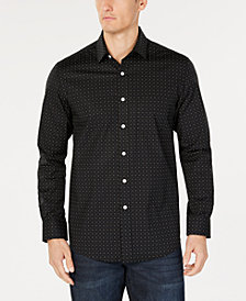 Club Room Men's Dot-Print Pocket Stretch Shirt, Created for Macy's