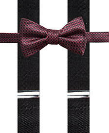 Alfani Men's Neat Pre-Tied Bow Tie & Suspender Set, Created for Macy's