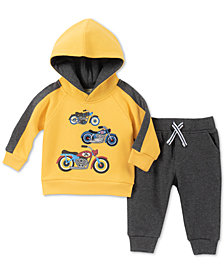 Kids Headquarters Baby Boys 2-Pc. Motorcycle Hoodie & Jogger Pants Set