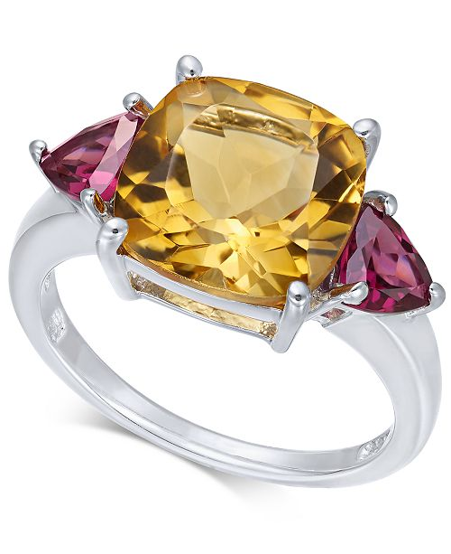 Macy's Multi-Gemstone (4-7/8 ct. t.w.) Ring in Sterling Silver