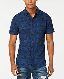 American Rag Men's Camouflage Jacquard Pocket Shirt, Created for Macy's