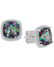 Mystic Topaz Rope Frame Stud Earrings (8 ct. t.w.) in Sterling Silver