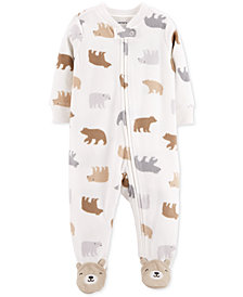 Carter's Baby Boys Bear-Print Footed Coverall