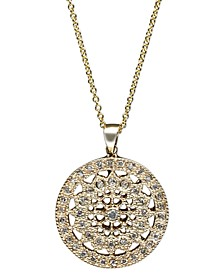 EFFY® Diamond Disc Pendant Necklace (1/4 ct. t.w.) in 14k White or Yellow Gold