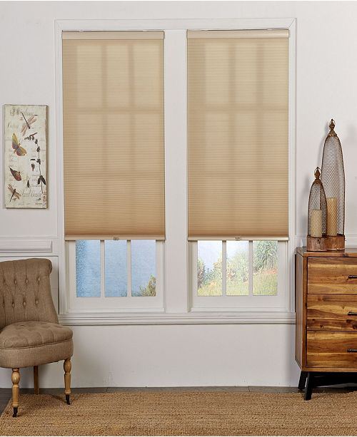 "The Cordless Collection Cordless Light Filtering Double Cellular Shade, 26.5"" x 72"""