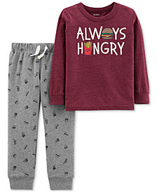 Carter's Baby Boys 2-Pc. Always Hungry Shirt & Jogger Pants Set