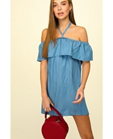 Olivia Pratt Halter Mini Dress