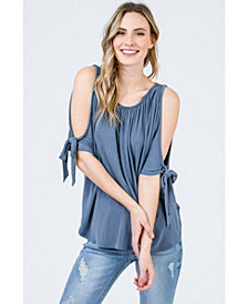 Olivia Pratt Cold Shoulder Tee