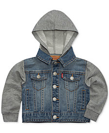 Levi's® Baby Boys Hooded Trucker Jacket