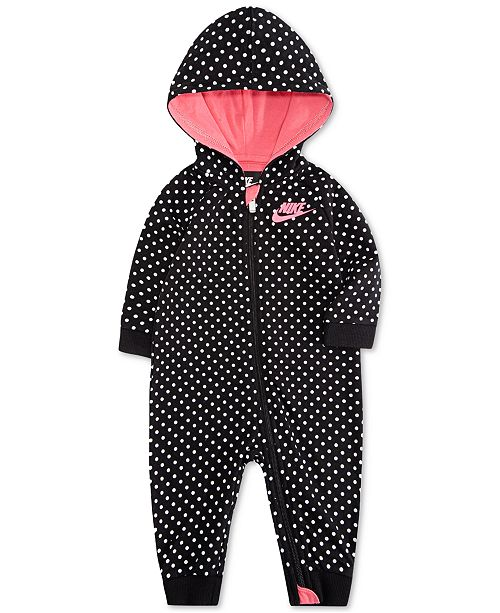 b79604bdd Nike Baby Girls Hooded Dot-Print Coverall   Reviews - All Baby ...