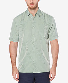 Cubavera Men's Big & Tall Floral Jacquard Shirt