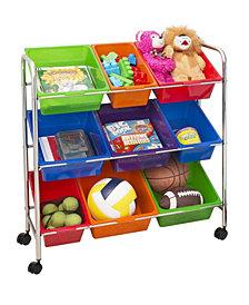 9-Bin Mobile Storage Organizer