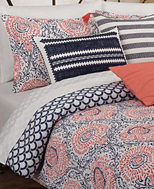Floral Block Full/Queen Comforter Set