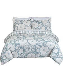 Chambray Floral Full/Queen Comforter Set