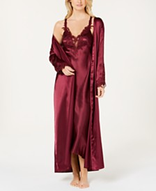 Flora by Flora Nikrooz Stella Satin Nightgown & Robe Collection