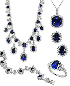 Giani Bernini Cubic Zirconia Sapphire-Look Jewelry Collection in Sterling Silver, Created for Macy's