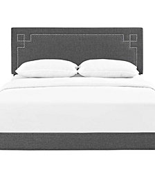 Ruthie Queen Fabric Platform Bed with Round Splayed Legs