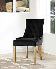 Pose Velvet Dining Chair