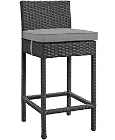 Sojourn Outdoor Patio Sunbrella® Bar Stool in Canvas Red