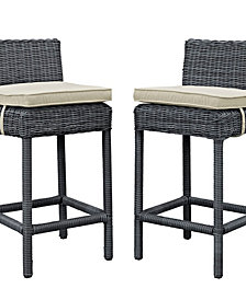 Summon 2 Piece Outdoor Patio Sunbrella® Pub Set