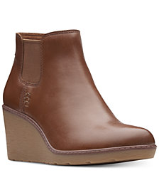 Clarks Collection Women's Hazen Flora Wedge Booties