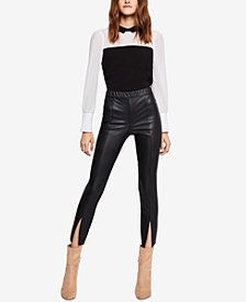 BCBGeneration Split-Front Faux-Leather Leggings