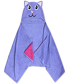 Jay Franco Kids' Kitty Cotton Terry Hooded Towel