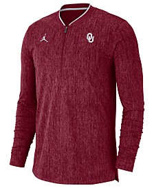 Nike Men's Oklahoma Sooners Coaches Quarter-Zip Pullover 2018