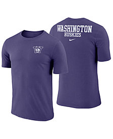 Nike Men's Washington Huskies Dri-FIT Cotton Stadium T-Shirt