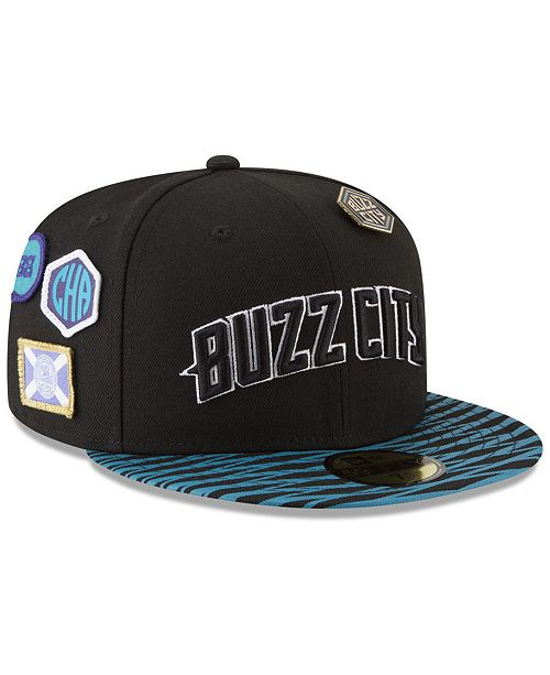 size 40 aa857 8dc22 New Era Charlotte Hornets City On-Court 59FIFTY FITTED Cap ...