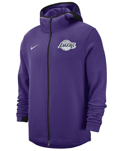 Nike Men s Los Angeles Lakers Dry Showtime Full-Zip Hoodie - Sports ... dc6b3a850