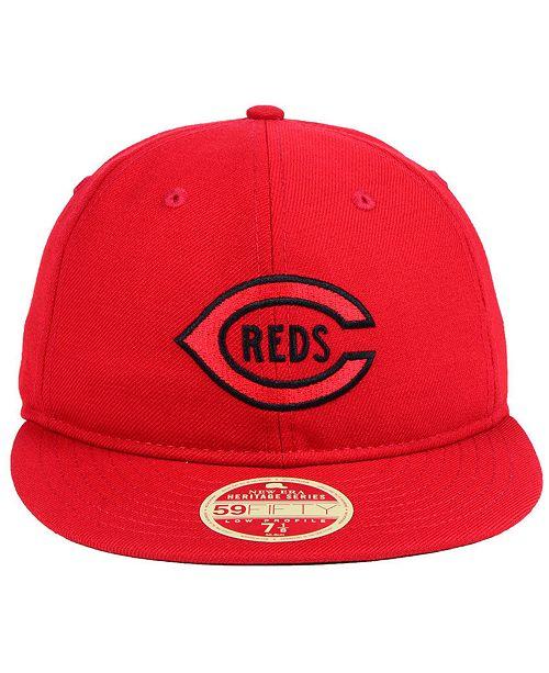 the latest cbd76 44ce6 ... New Era Cincinnati Reds Heritage Retro Classic 59FIFTY FITTED Cap ...