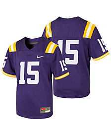 Nike LSU Tigers Replica Football Game Jersey, Little Boys (4-7)